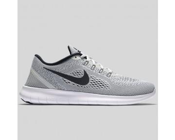 Damen & Herren - Nike Free RN Weiß Schwarz Rein Platinum