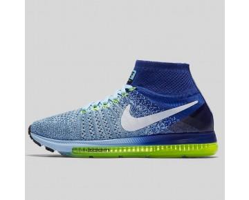 Damen & Herren - Nike Wmns Zoom All Out Flyknit Blaucap Weiß tief Königlich Blau Volt