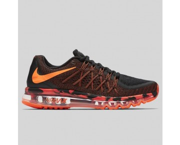Damen & Herren - Nike Air Max 2015 Premium Schwarz Total Orange