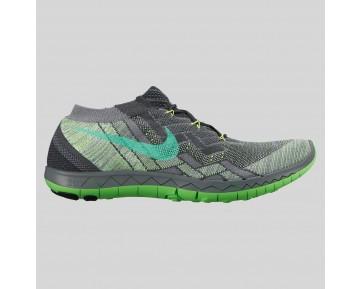 Damen & Herren - Nike Free 3.0 Flyknit Anthracite Grün Strike