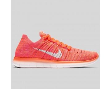 Damen & Herren - Nike Wmns Free RN Flyknit Hyper Orange Weiß Total Karmesinrot