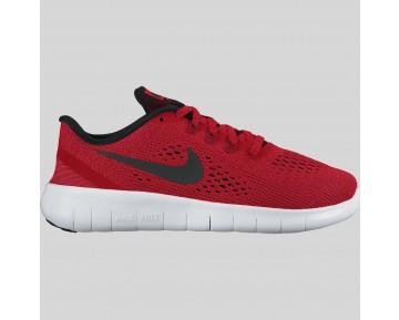 Damen & Herren - Nike Free RN (GS) Universität Rote Schwarz Weiß