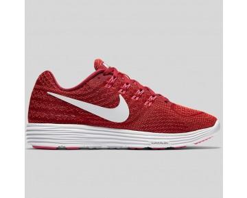 Damen & Herren - Nike Wmns Lunartempo 2 Noble Rote Weiß Hell Karmesinrot