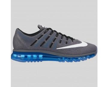 Damen & Herren - Nike Air Max 2016 Dunkel Grau Weiß Foto Blau