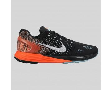 Damen & Herren - Nike Wmns Lunarglide 7 Schwarz Weiß Copa Hyper Orange