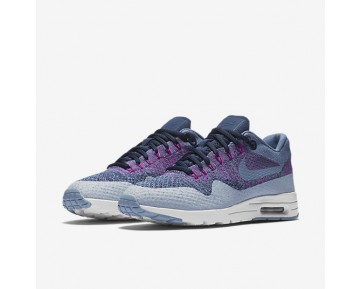 Nike Air Max 1 Ultra Flyknit Trainer - Ozean/Nebel/Universität Navy/Blau Grau/Ozean