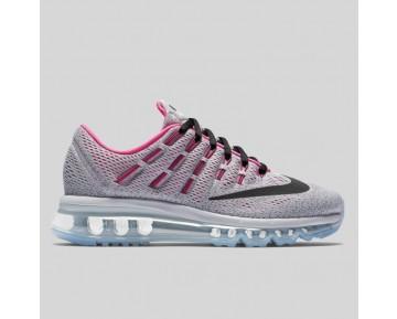 Damen & Herren - Nike Air Max 2016 (GS) Wolf Grau Schwarz Hyper Pink