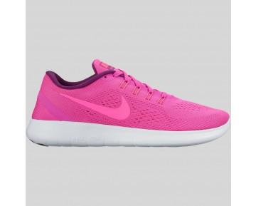 Damen & Herren - Nike Wmns Free RN Fire Pink Blau Glühen