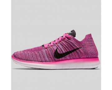 Damen & Herren - Nike Wmns Free RN Flyknit Fire Pink Schwarz Peach Cream