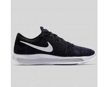Damen & Herren - Nike Wmns Lunarepic Low Flyknit Schwarz Weiß Dunkel lila Staub