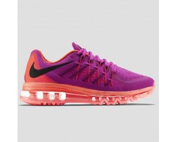 Damen & Herren - Nike Wmns Air Max 2015 lila Pink Flash Hot Lava