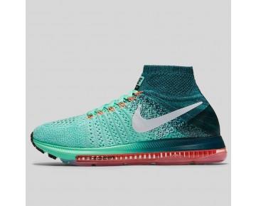 Damen & Herren - Nike Wmns Zoom All Out Flyknit Grün Glühen Weiß Mitternacht Turquoise
