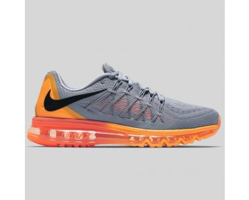 Damen & Herren - Nike Air Max 2015 Wolf Grau Schwarz Total Orange