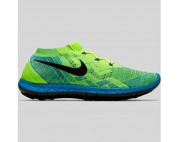Damen & Herren - Nike Free 3.0 Flyknit Volt Schwarz Blau Lagune