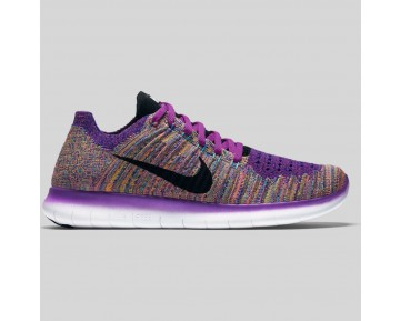 Damen & Herren - Nike Wmns Free RN Flyknit Hyper Violet Schwarz Gamma Blau
