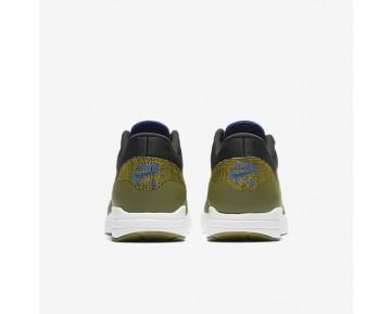 Nike Air Max 1 Ultra Flyknit Trainer - Olive/Spiel Royal/Heller Zitrone/Schwarz