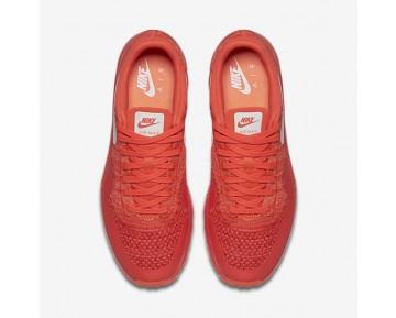 Nike Air Max 1 Ultra Flyknit Trainer - Helles Purpur/Universität Rot/Helle Mango/Weiß