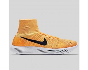 Damen & Herren - Nike Lunarepic Flyknit Laser Orange Schwarz Weiß