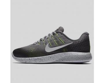 Damen & Herren - Nike Wmns Lunarglide 8 Shield Dunkel Grau Metallisch Silber Schwarz Volt