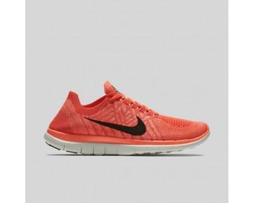 Damen & Herren - Nike Wmns Free 4.0 Flyknit Hell Mango Schwarz Hyper Orange