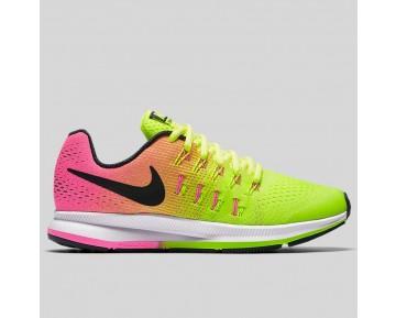 Damen & Herren - Nike Zoom Pegasus 33 (GS) Volt Schwarz Pink Blast